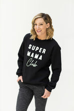 Load image into Gallery viewer, Super Mama Club Black Sweatshirt