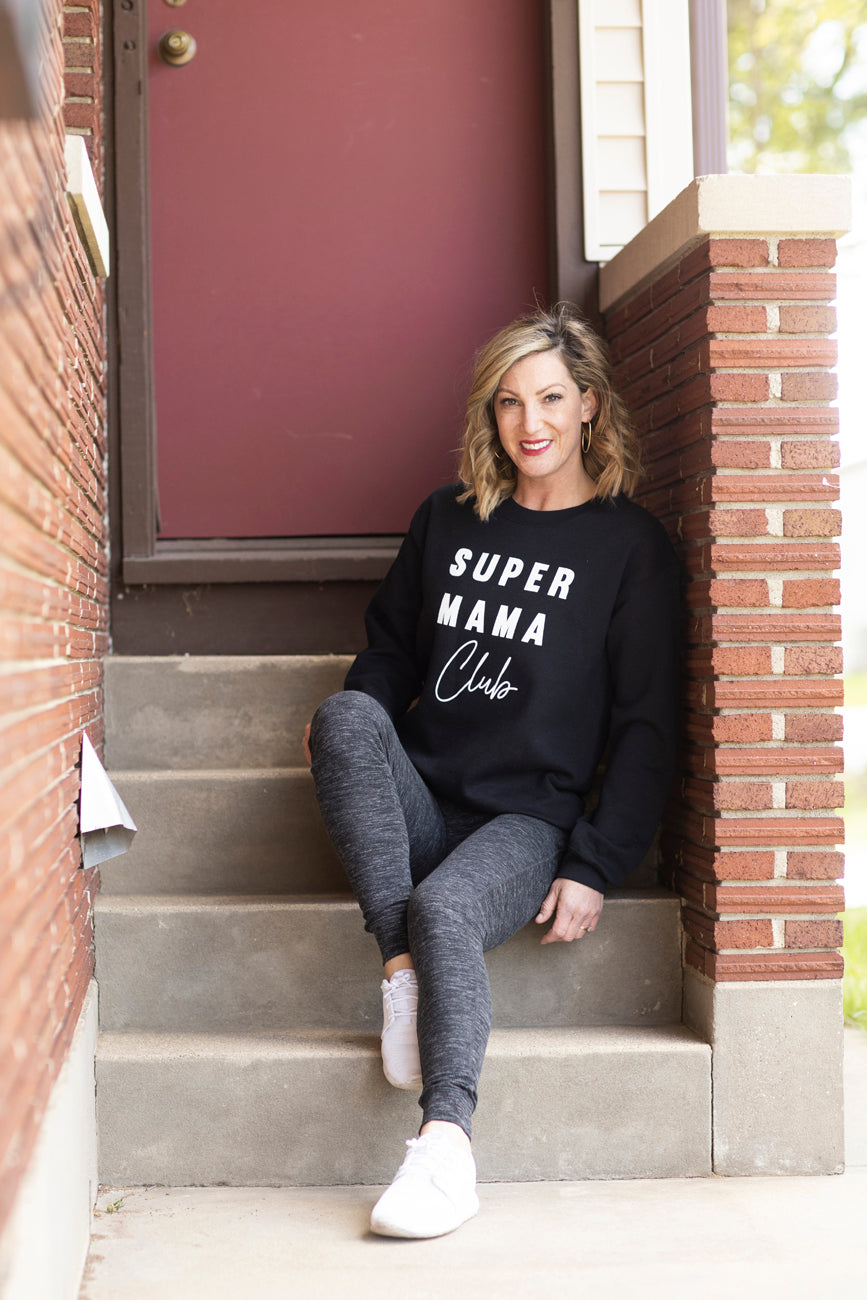 Super Mama Club Black Sweatshirt