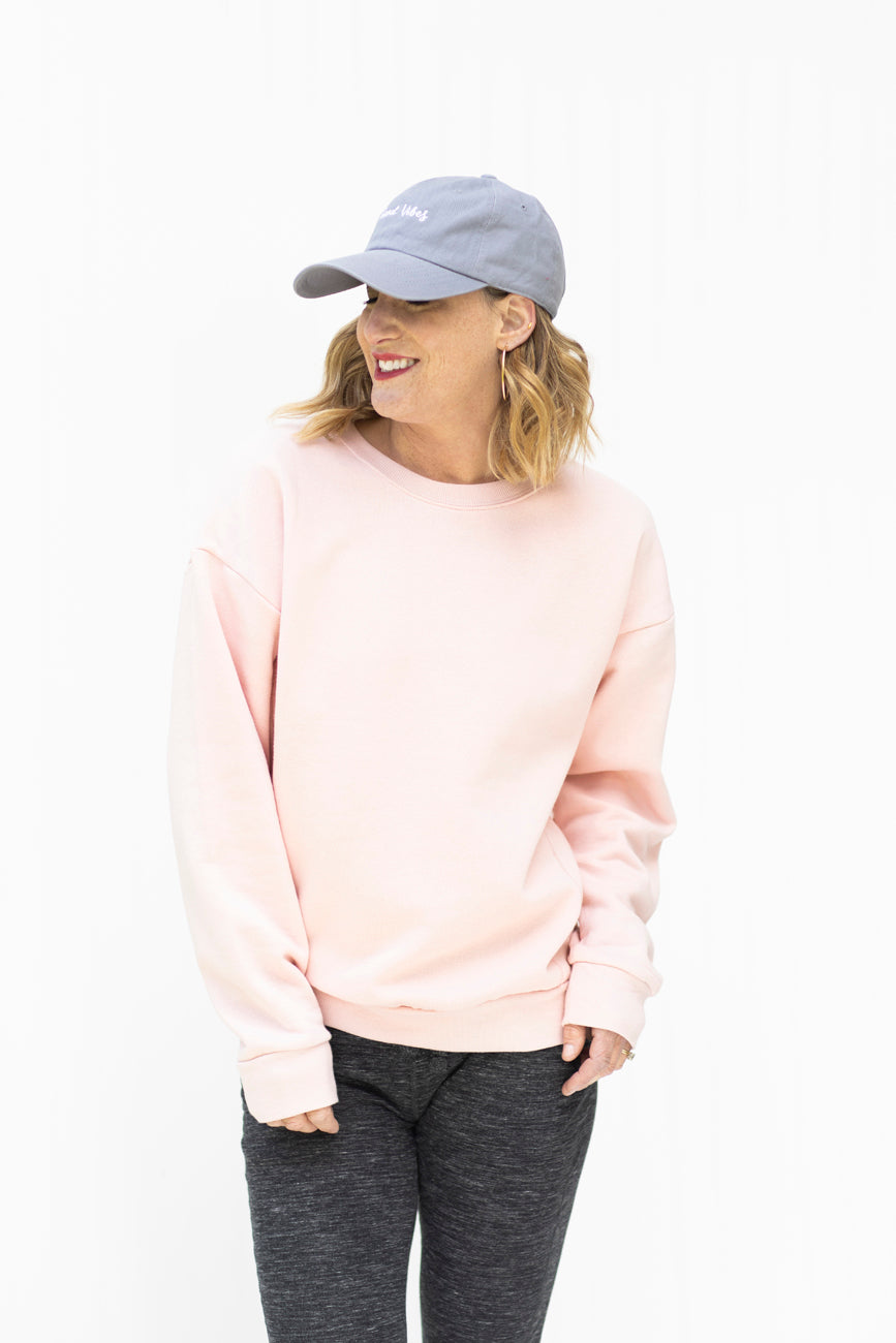 Make Me Blush Pink Sweatshirt