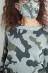 Wild at Heart Camo Sweater in Grey/Olive (5892916215968)