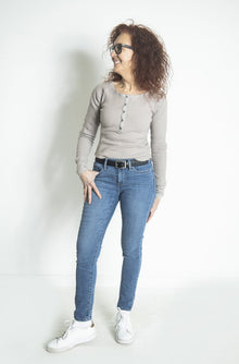 Free People All Ribbed Out Solid in Off White (5768926658720)