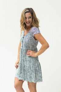 Wildly Wonderful Navy & White Animal Print Dress