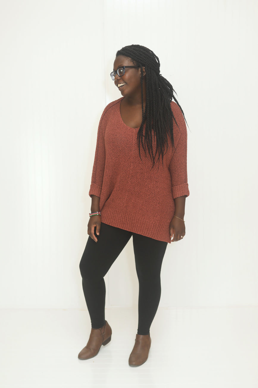 Can't Stop Me Now Cinnamon Sweater (5704307343520)