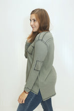 Load image into Gallery viewer, Better Than Ever Olive Thermal Top (5612189286560)