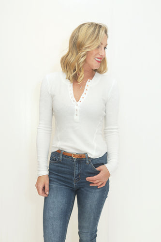 One of the Girls Ivory Henley Top (5624751521952)