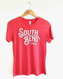 South Bend Town Red Custom Women's Tee (5722064945312)