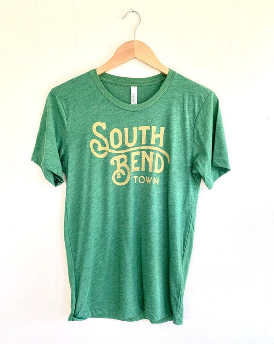 South Bend Town Green & Gold Custom Unisex Tee (5722062651552)