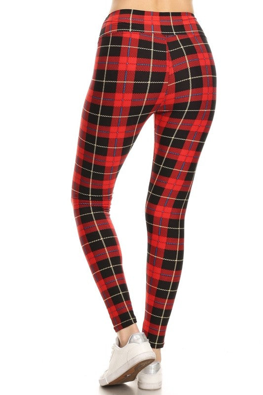 Comfort & Cheer Plaid Leggings (5423907078304)