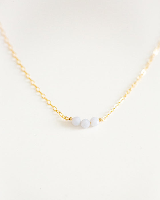Dainty Dazzle Necklace in Blue Peruvian Opal (6015265472672)