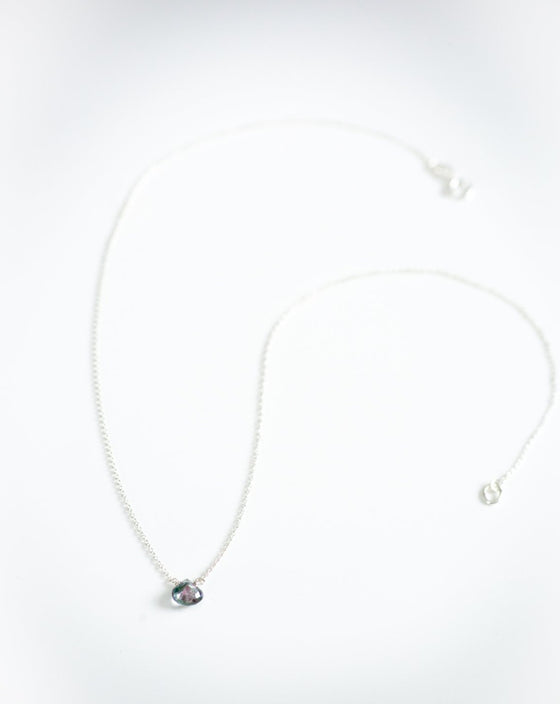 Ali Blue Topaz Drop Necklace (6004766802080)