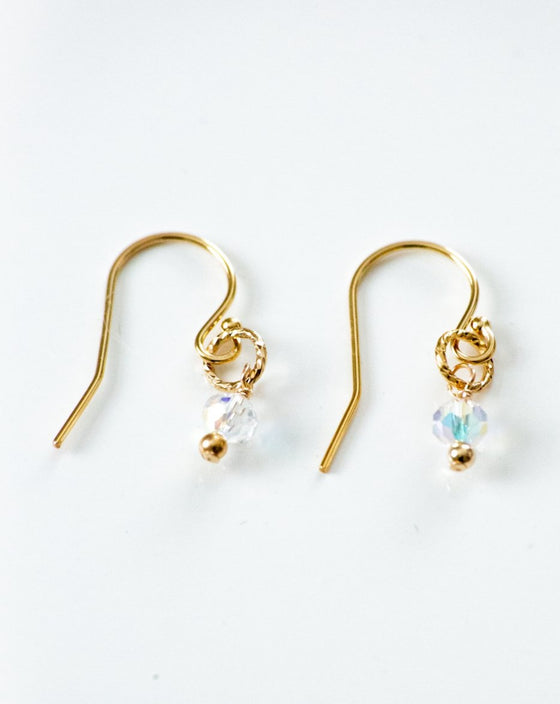 It's a Tiny Gold Hoop Swarovski Crystal Earrings (6034621104288)