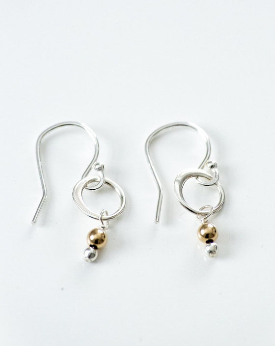 Two Tone is so you Tiny Hoop Earrings (6034657345696)