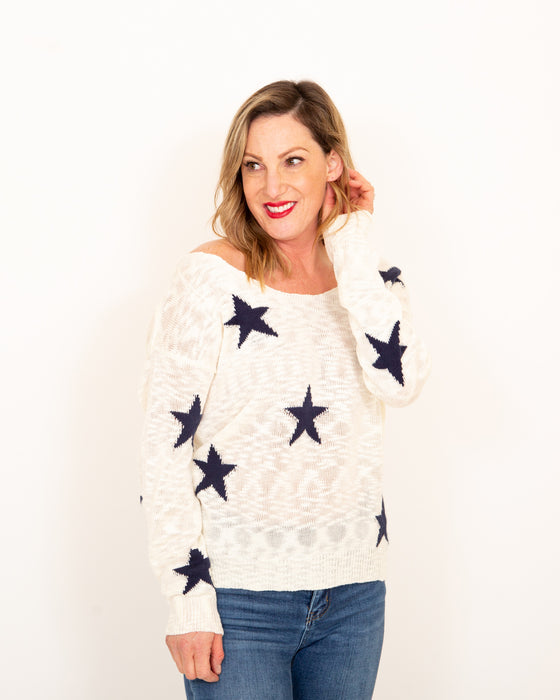 Seeing Stars Off White Top (5985829716128)