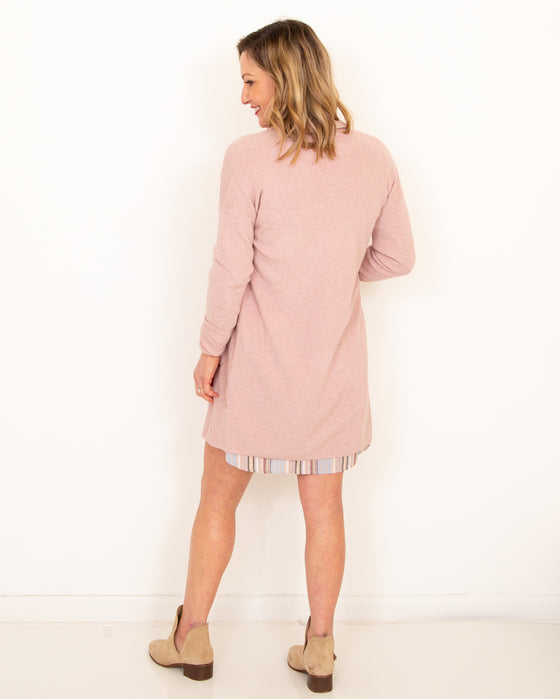 Hold You Tight Cardigan in Heather Peony (6011634122912)