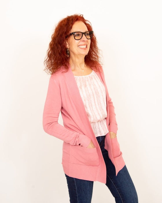 The Classic Cardigan in Pink (6011633926304)