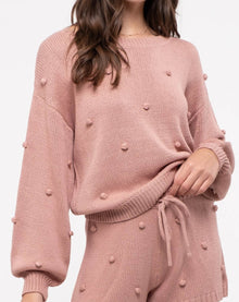 The Dotted Line Sweater in Mauve (6011634090144)