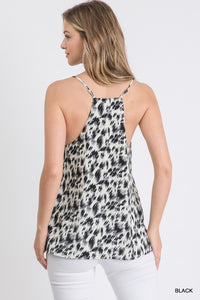 Drive You Wild Black Leopard Print Tank