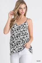 Load image into Gallery viewer, Drive You Wild Black Leopard Print Tank