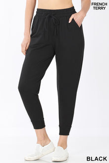 Douillet French Terry Capri Jogger in Black (5925403623584)