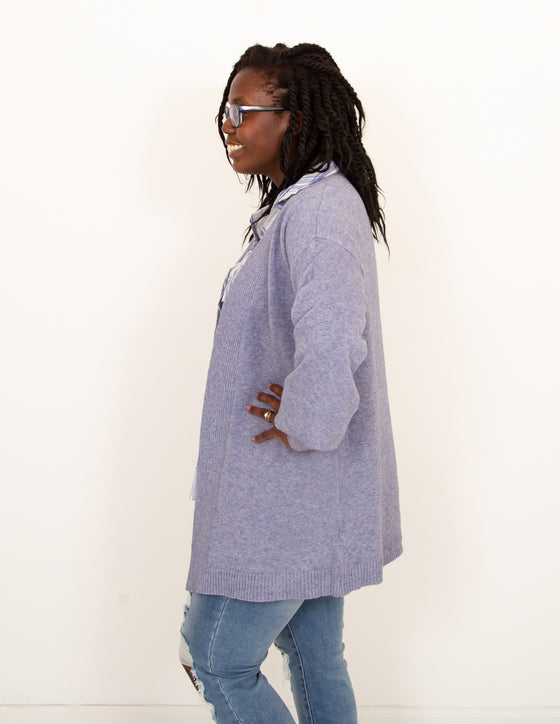 Calling Me Home Cardigan in Powder Blue (6011634319520)