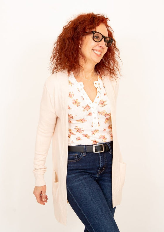 One of the Girls Henley in White Combo (5996012306592)