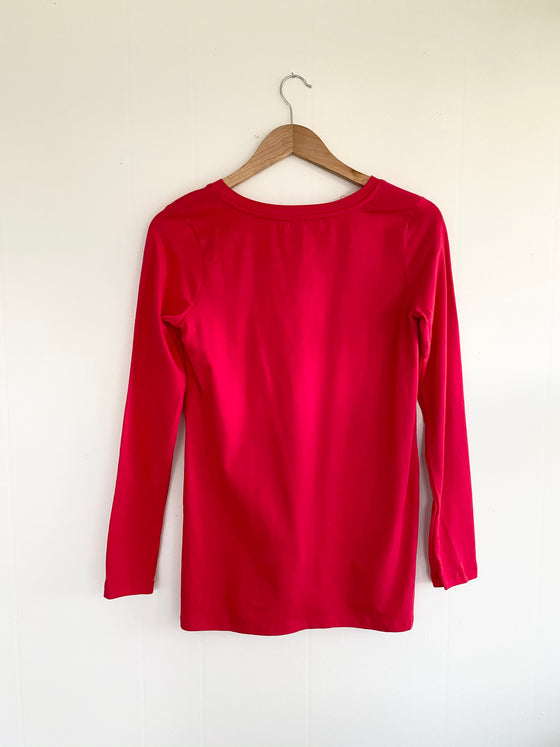 The Loungy Tee in Ruby (5925403492512)