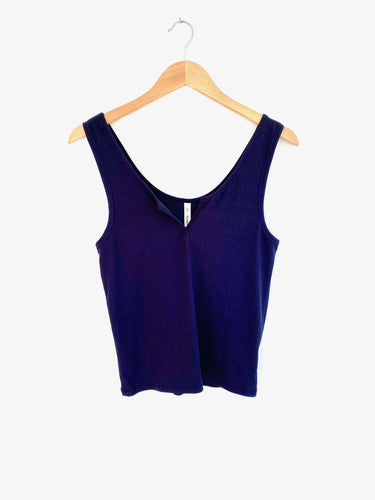 Say Something Navy V-Neck Tank (5423908946080)