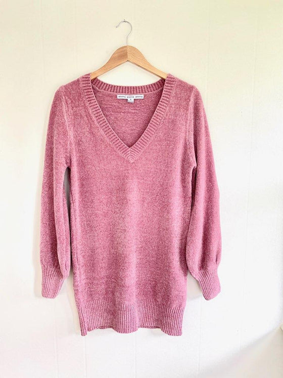 Let Me Love You Mauve Sweater Dress (5738626023584)