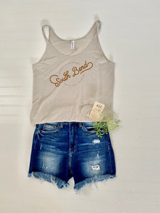 Ali on the Boulevard Taupe Graphic Tank