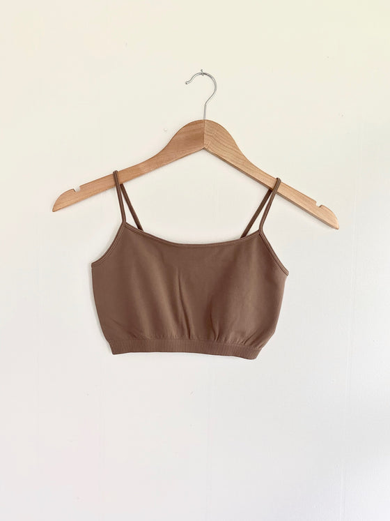 Got You Covered New Mocha Half-Cami Bralette (5558111142048)