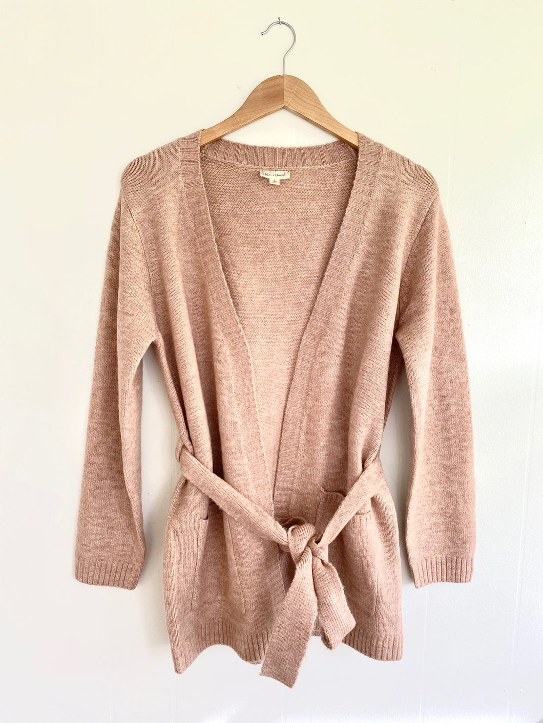 Belt It Out Mauve Cardigan (5649922621600)