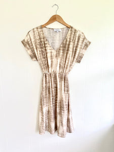Tied Together With A Smile Mocha Tie-Dye Dress (5501396910240)