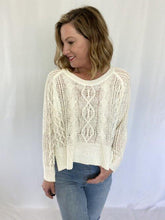 Load image into Gallery viewer, Off White Woven Sweater - 18291