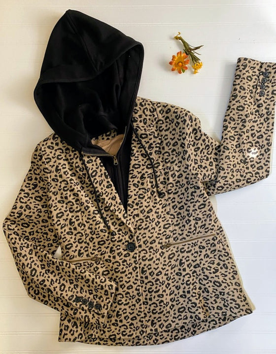 Spot You From Here Animal Print Blazer (5165046726700)