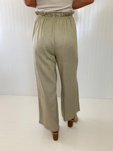 Lead the Way Sage Linen Pants