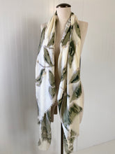 Load image into Gallery viewer, Ivory & Olive Floral Spring Scarf