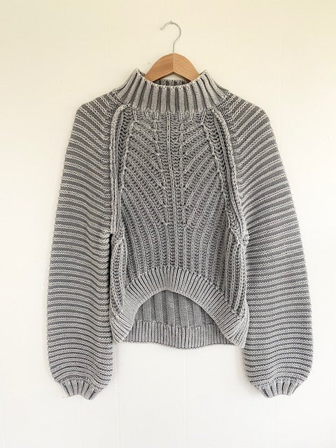 Free People Sweetheart Sweater in Grey (5768926593184)