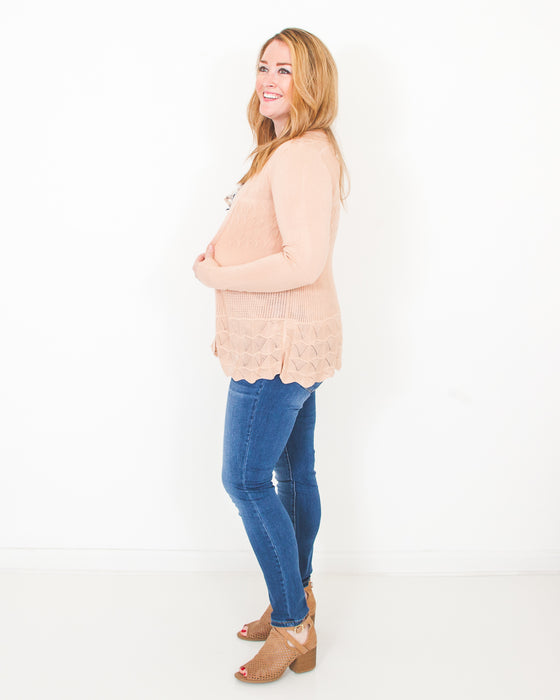 Not Over You Dusty Pink Cardigan (6589693886624)