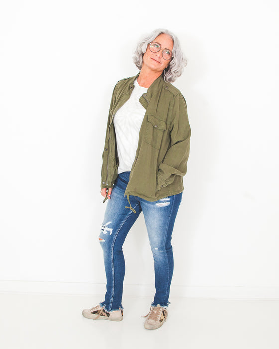 Dawn to Dusk Jacket in Olive (6061489717408)