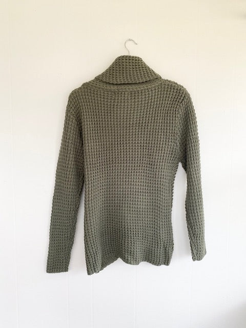 I Can't Wait Assymetrical Light Olive Sweater (5892916478112)