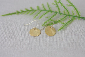 Simply You Large Dangle Disk Earring