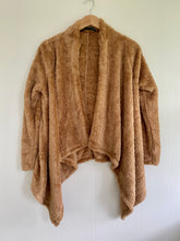 Load image into Gallery viewer, Simply Soft Taupe Teddy Waterfall Cardigan (5649922064544)