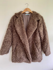 We Belong Mocha Faux Fur Jacket (5612189974688)