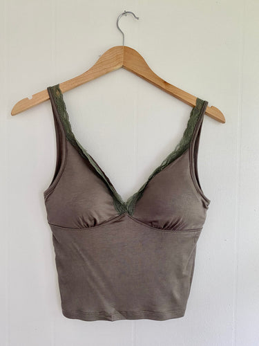 Need You Most Olive Lace Cami (5649867931808)