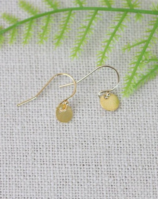 Simply You Tiny Dangle Disk Earring (4879635349548)