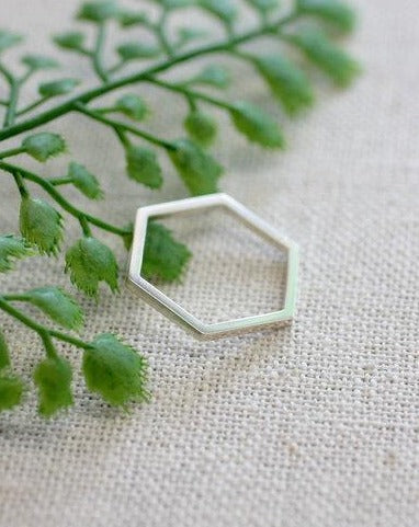 Hexagon Statement Ring (4879713894444)