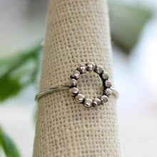 Sterling Dotted Circle Ring (4879723954220)