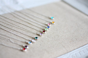 Swarovski Crystal Birthstone Necklaces