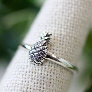 Sterling Silver Pineapple Ring (5239849910432)