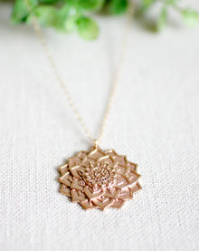 Lotus Flower Power Necklace (5420371148960)